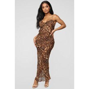 BNWT Grrls night leopard dress